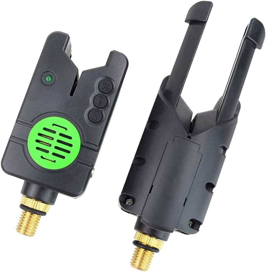 T-REASURE Fishing Bite Alarm Indicator,Water Resistant Black High Sensitivity Electronic LED Light for Fishing Tool