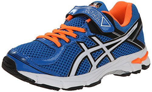 Price comparison product image ASICS GT 1000 4 PS Running Shoe (Toddler/Little Kid), Electric Blue/White/Orange, 2.5 M US Little Kid