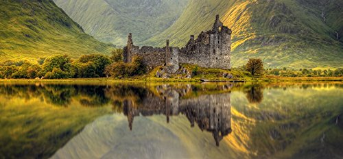 Posterazzi Kilchurn Castle reflection in Loch Awe Argyll and Bute Scottish Highlands Scotland Poster Print (12 x 24) from Posterazzi