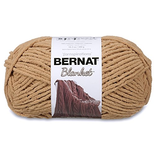 Bernat 16111010014 Blanket Yarn, 10.5 Ounce, Sand, Single Ball