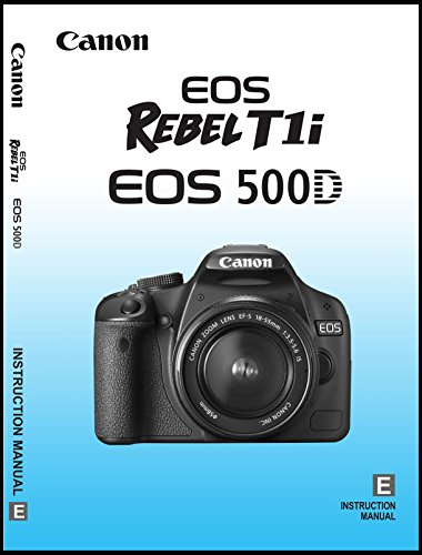 Canon Rebel T1i Digital Camera User's Instruction Manual Book