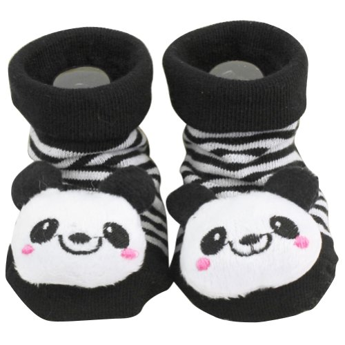 Un par Nuevo Zapatos Calcetines Panda Con Dibujos Animal para 0-6 Meses Bebé