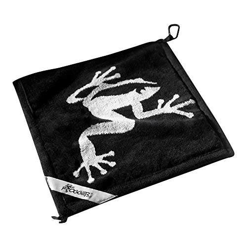 Frogger Golf Amphibian Wet/Dry Golf Towel, Black/Grey