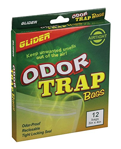(Odor Trap Bags Odor Proof Reclosable Tight Locking Seal Smell Proof Bags (3x4 (12 bags)))
