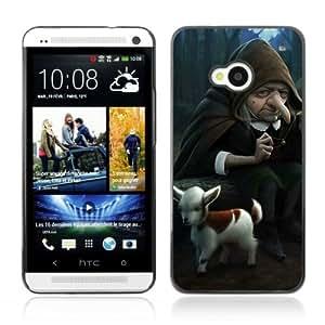YOYOSHOP [Funny Witch & Goat Illustration] HTC One M7 Case