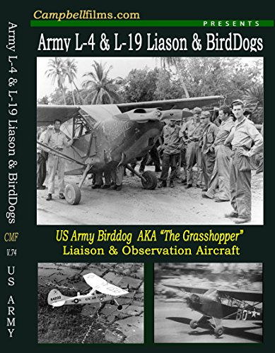 Cub Flying Piper - Army L-4 and L-19 Liaison and Birddogs old Films Grashoppers Piper Cub Flying Jeeps airplane old films DVD
