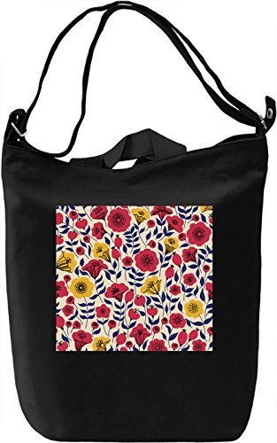 Spring Flowers Pattern Borsa Giornaliera Canvas Canvas Day Bag| 100% Premium Cotton Canvas| DTG Printing|