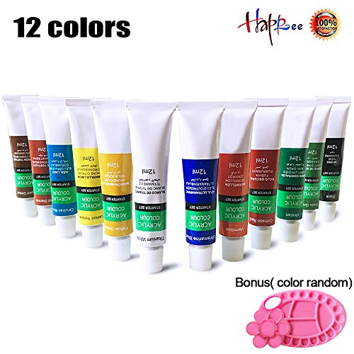 lic Paint Set, Artist Painting, Hobby Art Supplies Works on Canvas, Glass, Nails, Fabric, Clay For Professional, Beginners, Kids and Adults 12 x12ml (0.41 fl.oz) ()