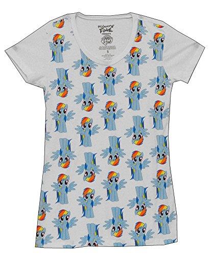 My Little Pony Rainbow Dash Cartoon Mighty Fine Juniors Babydoll T-Shirt Tee