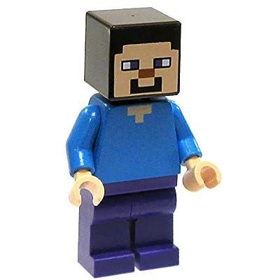 LEGO Minecraft Minifigure Steve: Toys & Games