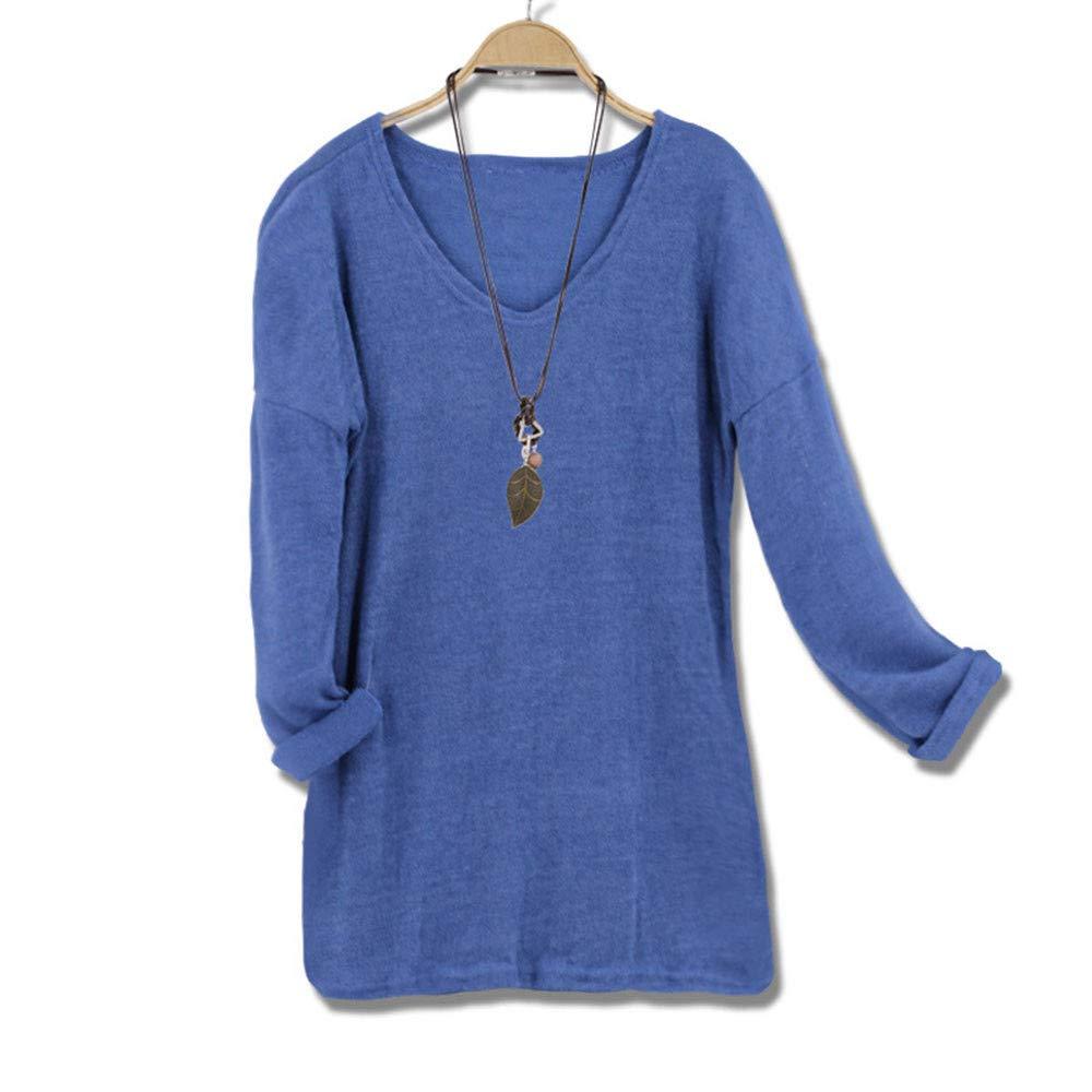 SPE969 Women's V-Neck Pullover Solid Fleece Sweatshirt Long Sleeve Casual Tops SPE-235882