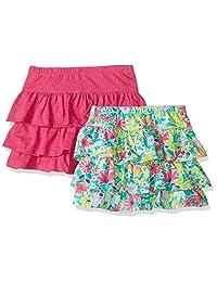 Spotted Zebra Amazon Brand Girls' Toddler & Kids 2-Pack Knit Ruffle Scooter Skirts