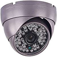 Vanxse® Cctv 1200tvl Hd Sony Cmos 48led Ir-cut 3.6mm Armour Dome Security Camera Surveillance Camera Metal Case Wide Angle(Metal Case)