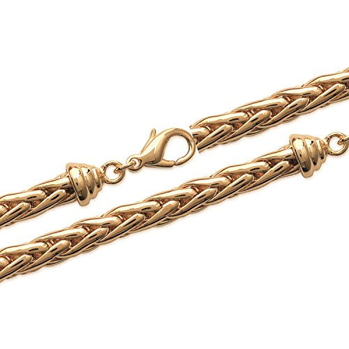 Bracelet en Plaqué Or Maille Palmier montée à la main - Longueur 19 cm - Largeur 6 mm - Bijoux Femme