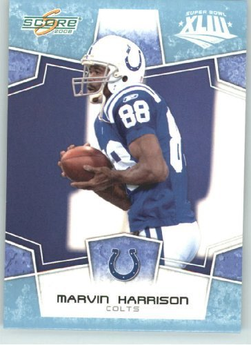Harrison Indianapolis Colts Super Bowl - 2008 Donruss - Score Limited Edition Super Bowl XLIII GLOSSY # 129 Marvin Harrison - Indianapolis Colts - (Serial #d to 250) NFL Trading Card