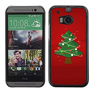 YOYO Slim PC / Aluminium Case Cover Armor Shell Portection //Christmas Holiday Tree 1262 //HTC One M8