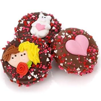 Amazon Com Chocolate Covered Oreo Cookies Valentine Set Of 12