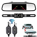 iStrong Backup Camera Wireless and Mirror Monitor Kit RC 9V-24V Parking System With 7 LED Night Vision for Car vehicle Van / Caravan / Campe