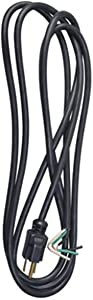 Master Electrician 09709ME 9-Feet Power Supply Replacement Cord, Black