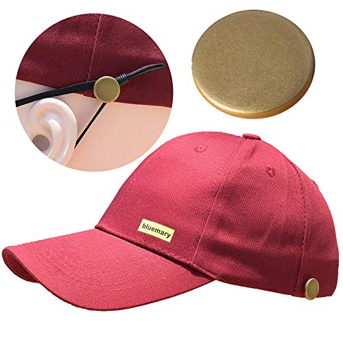 Bluemary Cotton Baseball Cap-Contain with Detachable Buckle Baseball Cap,Classic Adjustable Sun Hats for Men Women (Wine Red)