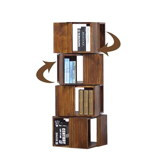 HM&DX Madera sólida Librería giratoria,Muebles Vintage 4 ...