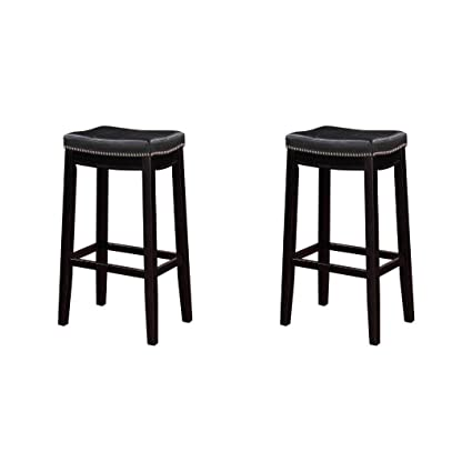 Peachy Amazon Com Linon Claridge Bar Stool 32 Inch Seat Height Ncnpc Chair Design For Home Ncnpcorg