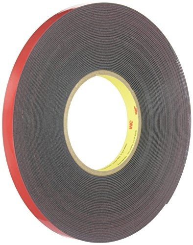 (3M(TM) Automotive Acrylic Plus Attachment Tape, Black, 1/2