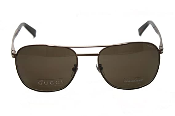 e70dc672d1995 Image Unavailable. Image not available for. Color  GUCCI Square GG2270FS Matte  Brown Steel Bronze Polarized ...