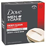 #9: Dove Men+Care Body and Face Bar, Deep Clean 4 oz, 10 Bar