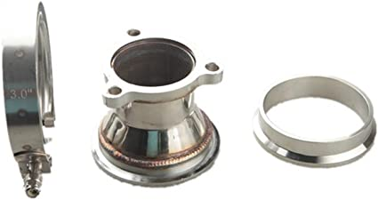 "Universal Mild Steel Reducer For 3/"" V-Band To 4/"" V-Band Flange Turbo Downpipe"