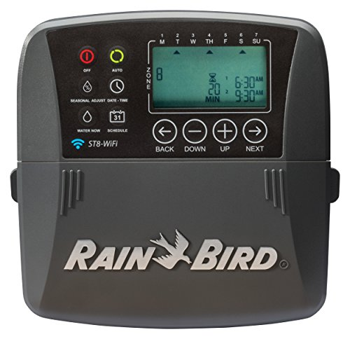 Rain Bird ST8I-WIFI Smart Indoor WiFi Sprinkler/Irrigation System Timer/Controller, WaterSense Certified, 8-Zone/Station by Rain Bird
