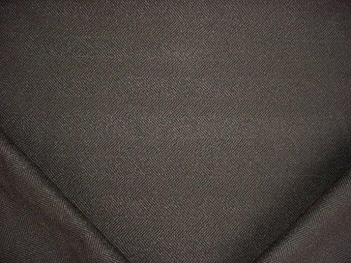 Designer Fabric Drapery Pattern (385RT5 - Charcoal / Jet Black Jumper Herringbone Designer Upholstery Drapery Fabric - By the Yard)