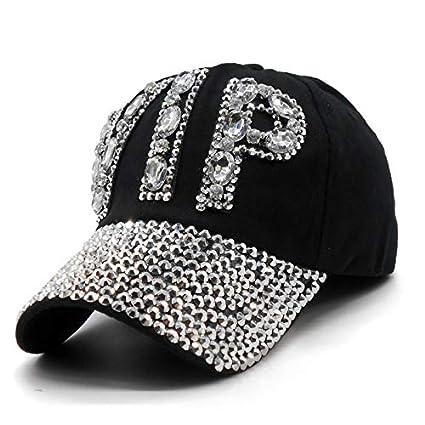 Amazon.com  HeroStore Ladies VIP Baseball Cap Women Studded Crystals  Rhinestones Sequins Snapback Hats Swag Vintage Denim Casual Sun Gorras   Kitchen   ... fae1d8b51381