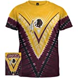 Washington Redskins - Logo V-Dye Tie Dye T-Shirt