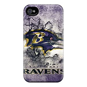 KaraPerron Iphone 4/4s Shock-Absorbing Hard Phone Case Provide Private Custom Stylish Baltimore Ravens Pictures [Jzn15379THPR]