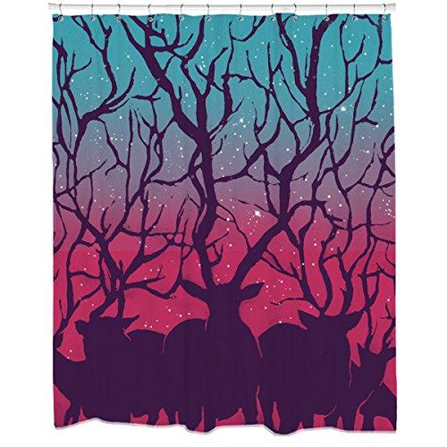 Deer Forest Shower Curtain (Deer Shower Curtain)