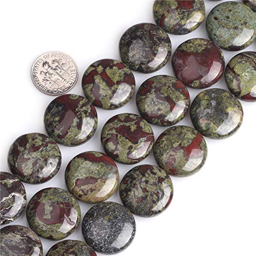 - JOE FOREMAN Green Blood Stone Jasper Gemstone Beads for Jewelry Making Strand 15