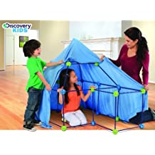Discovery Kids 77-piece Build and Play Construction Fort Set Boys Girls Gift Indoor Game Fun Birthday Sleepover Toy by Discovery Kids