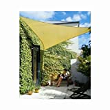 Phoenix 11.5' Professional Triangle Sun Shade Sail Desert Sand Color, Includes All Mounting Hardware