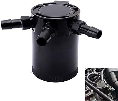Universal Car Racing Baffled 3-Port Oil Catch Can Tank Air-Oil Separator Kit
