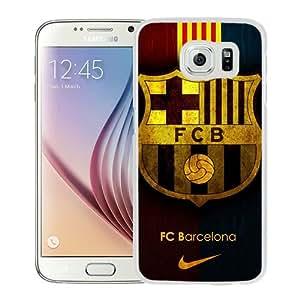 Design for Mass Customization Fc Barcelona White Samsung Galaxy S6 G9200 Phone Case