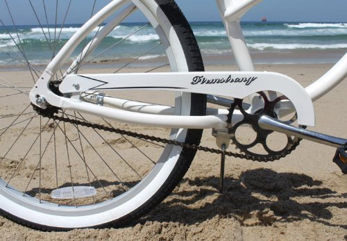 Firmstrong Urban Lady Alloy Single Speed Beach Cruiser Bicycle, 26-Inch, White by Firmstrong (Image #3)