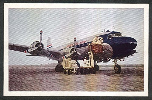 United Airlines Mainliner DC-6 postcard - Dc Airlines United