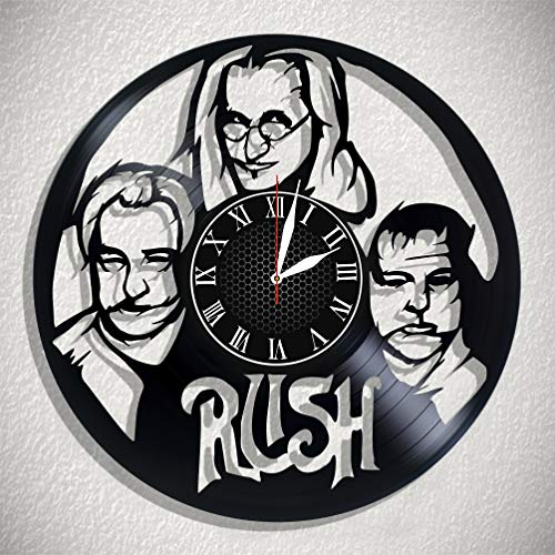 (Rush Wall Art Vinyl Wall Clock Art Gift Room Modern Home Record Vintage Decoration Gift for Fans Home & Office Bedroom Nursery Room Wall Decor - Customize Your Clock !)
