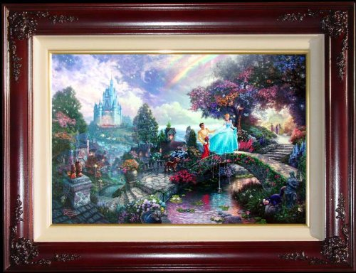 Cinderella Wishes Upon A Dream Disney Dreams IV Thomas Kinkade Standard Numbered Limited Edition