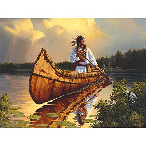 Bits and Pieces - 500 Piece Jigsaw Puzzle for Adults - Tranquility - 500 pc Native American Jigsaw by Artist Joe Velazquez