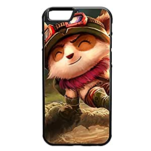 2015 CustomizedTeemo-001 League of Legends LoL case cover for Apple iPhone 6 - Rubber Black