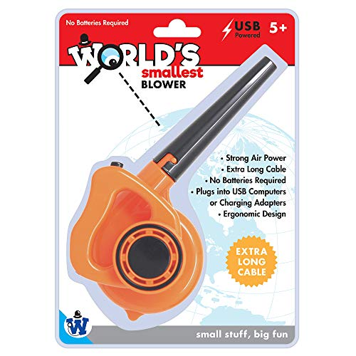 Westminster, Inc. World's Smallest Blower – Real, Working, Tiny, USB Powered Leaf Blower