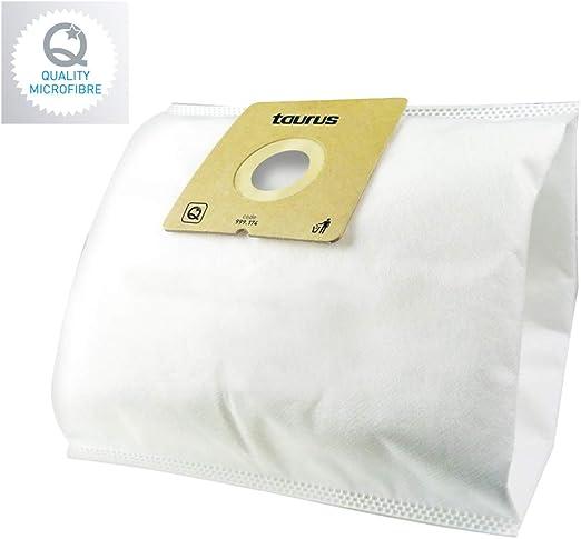 Taurus TX3 4L - Pack de 4 bolsas de recambio para aspiradores, 4 l, microfibra: Amazon.es: Hogar