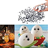 CYCTECH 500 Pcs Total Mixed Eyes Self Adhesive DIY Wiggle Googly Eyes Toy Doll Accessories (Black)